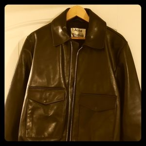 Black Acne Studios Leather Jacket